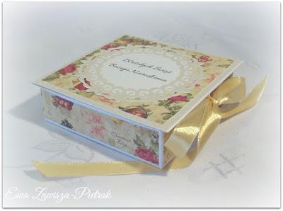 Pudełko kartka na Boże Narodzenie