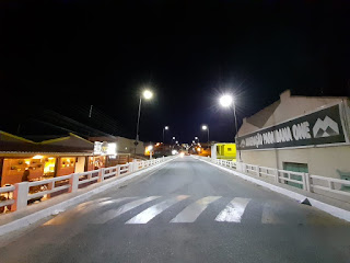 Ponte rio Picuí recebe lâmpadas de LED