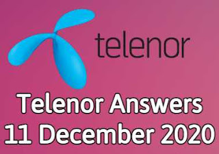 11 December Telenor Quiz | Telenor Answers 11 December 2020