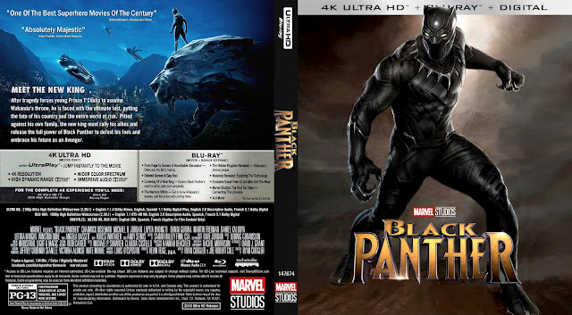 Black Panther 4k Bluray Cover