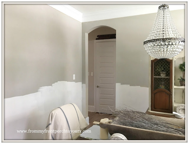 French Country Farmhouse Dining Room-Sherwin Williams-Mindful Gray-From My Front Porch To Yours
