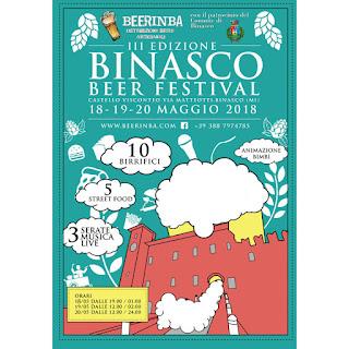 Beer Festival e Street Food 18-19-20 maggio Binasco (MI)