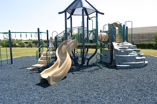 rubber mulch playground surface built from recycled tires