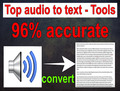 How to convert audio to text file
