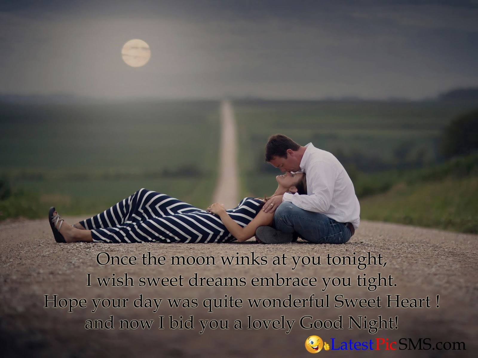 Good night photo new love you kiss sms