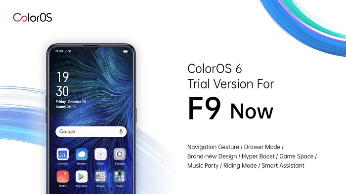 Android Pie-Based ColorOS 6 Open Beta for F9 Smartphones