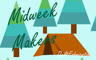 Midweek Makers on a camping scene by QuiltFabrication