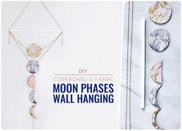 fases luna, decoracion, colgar pared