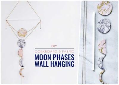 Fases de la luna decorativo para colgar en la pared