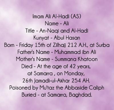Hazrat Imam Muhammad Naqi As