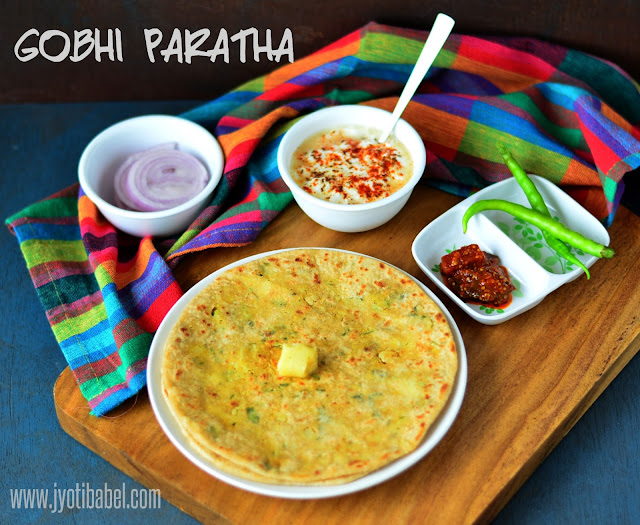 Stuffed Gobhi Paratha is a simple and hearty Indian stuffed flatbread which comes with a flavourful filling of grated cauliflower.