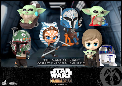 The Mandalorian Season 2 Cosbaby Star Wars Bobble Head Mini Figures by Hot Toys