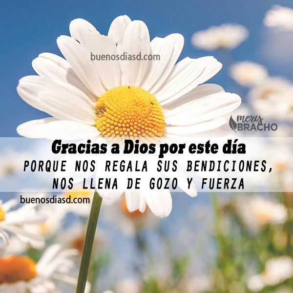 imagen de bendiciones cristiana de gracias a Dios por el nuevo día frases mensajes cristianos de buenos dias