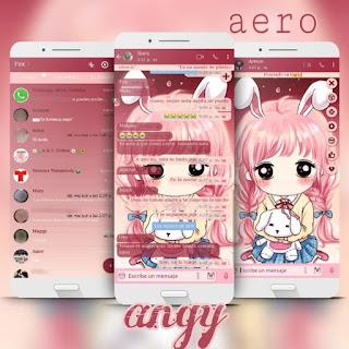 Anime Girl Dog Theme For YOWhatsApp & Fouad WhatsApp By Ave fénix