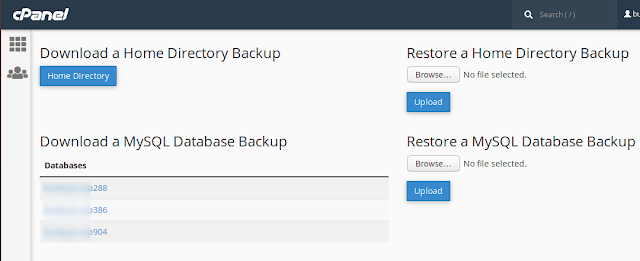 Bagaimana Backup dan Restore Database di Cpanel ?