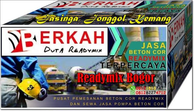 Harga Readymix Bogor, Kemang, Jasinga dan Jonggol untuk Jawa Barat