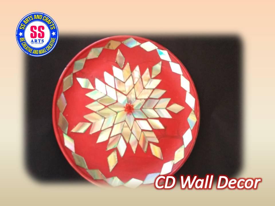 Cd wall decor   SSARTSCRAFTS