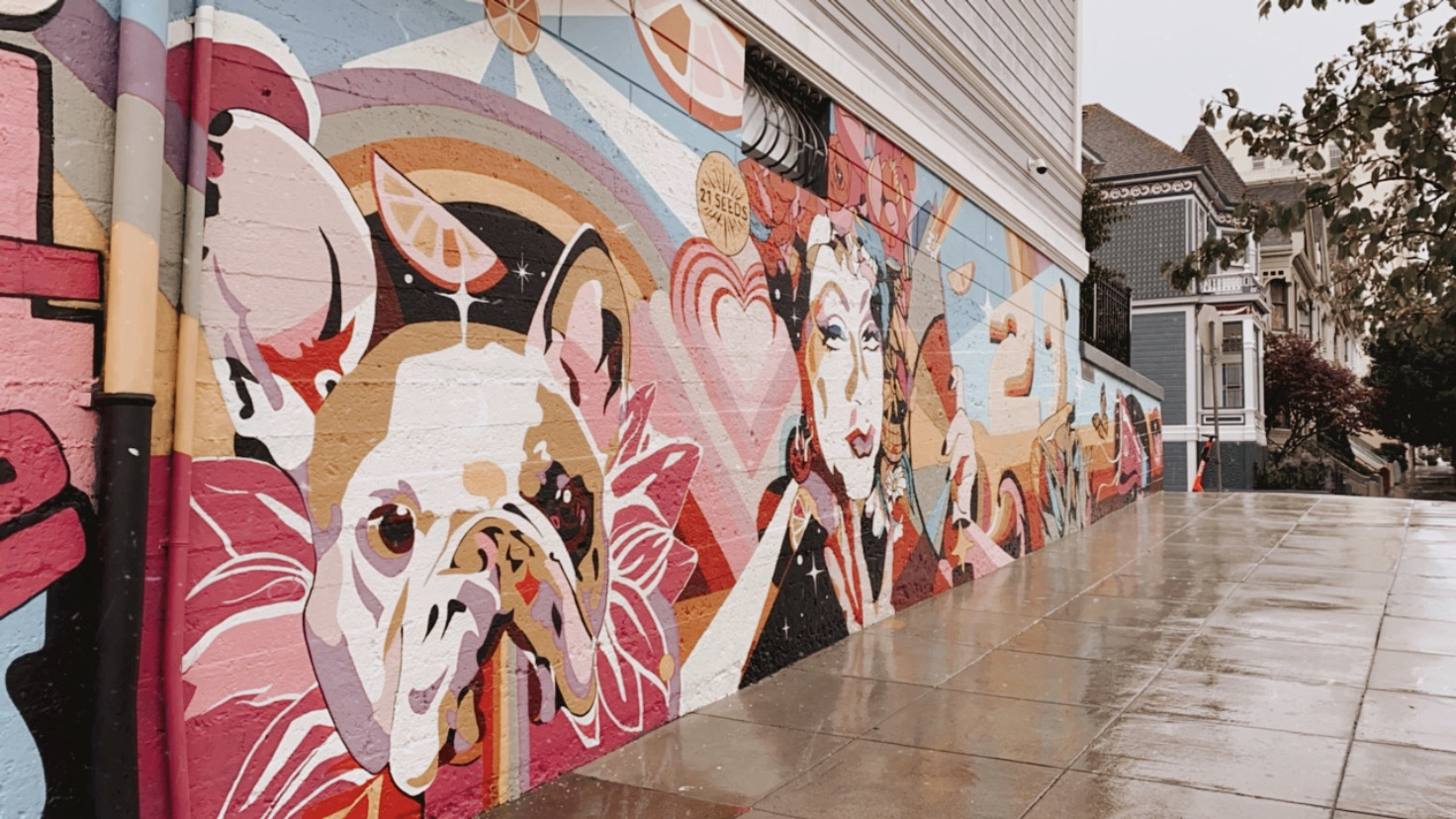 Dog Mural in San Francisco | biblio-style.com