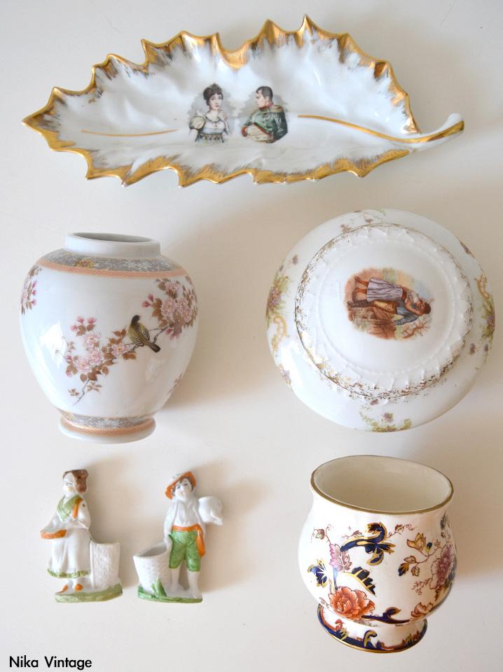 palilleros biscuit, pareja figuras biscuit, jarron, florero, joyero, caja, bandeja Napoleon Josefina