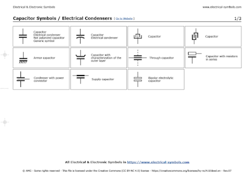 Capacitor Symbols / Electrical Condensers
