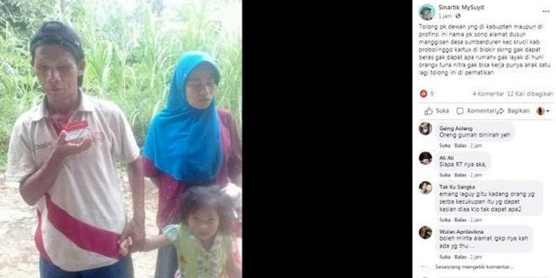 Bantuan Keluarga Tunanetra Terblokir, Dinsos Probolinggo Bilang Kartunya Sedang Error