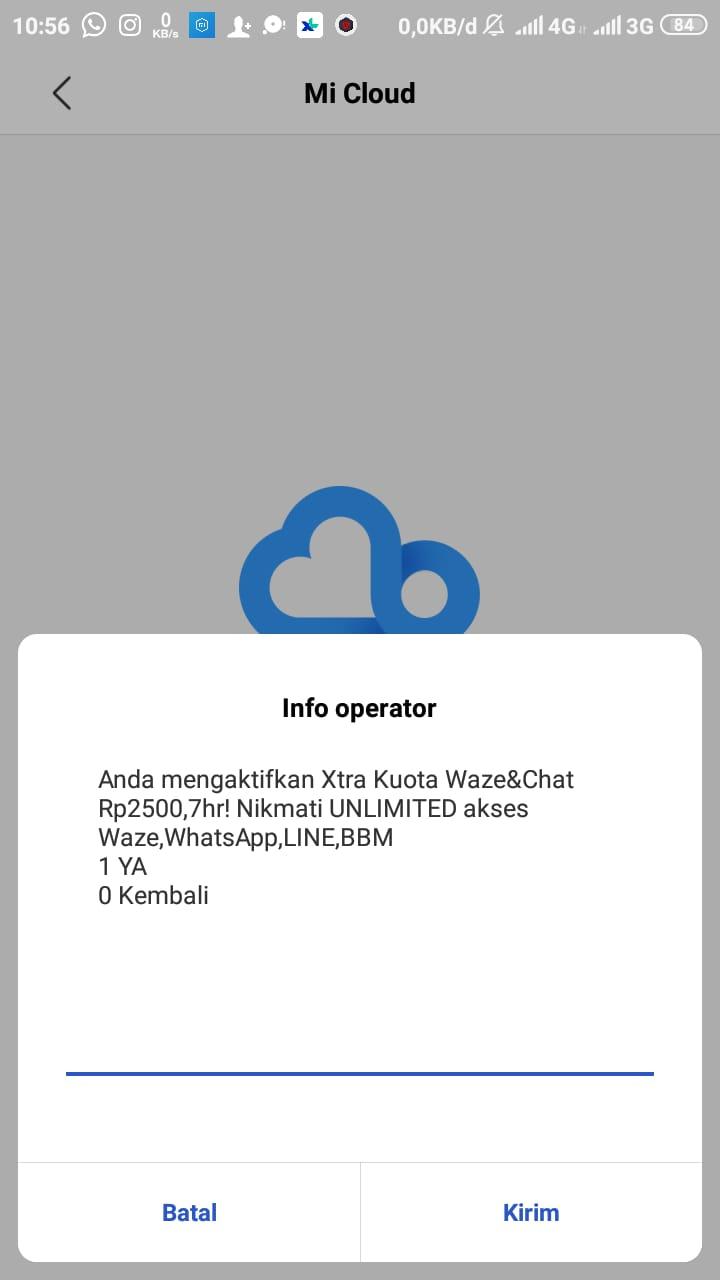 Cara Paket Waze dan chat