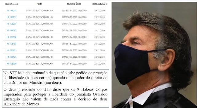 URGENTE!!! Deuses põem em perigo extremo a liberdade de cidadãos no Brasil – quem poderá socorre-los?