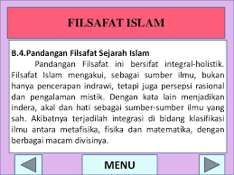 Sejarah Singkat Perkembangan filsafat Islam