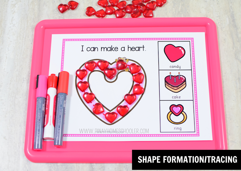 Valentines Day Theme Resource Shape Formation or Tracing