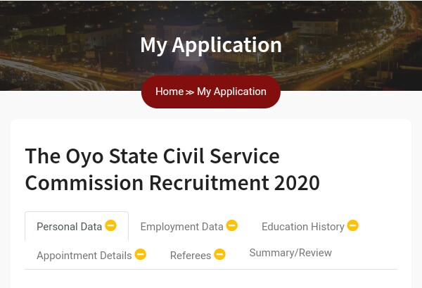Updated: How to Submit Application on Oyo State Job Portal Recruitment 5
