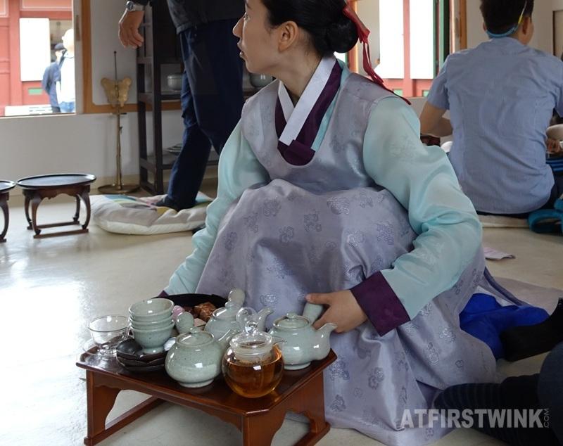 Saenggwabang in Gyeongbokgung palace royal refreshments waitress traditional servant clothing