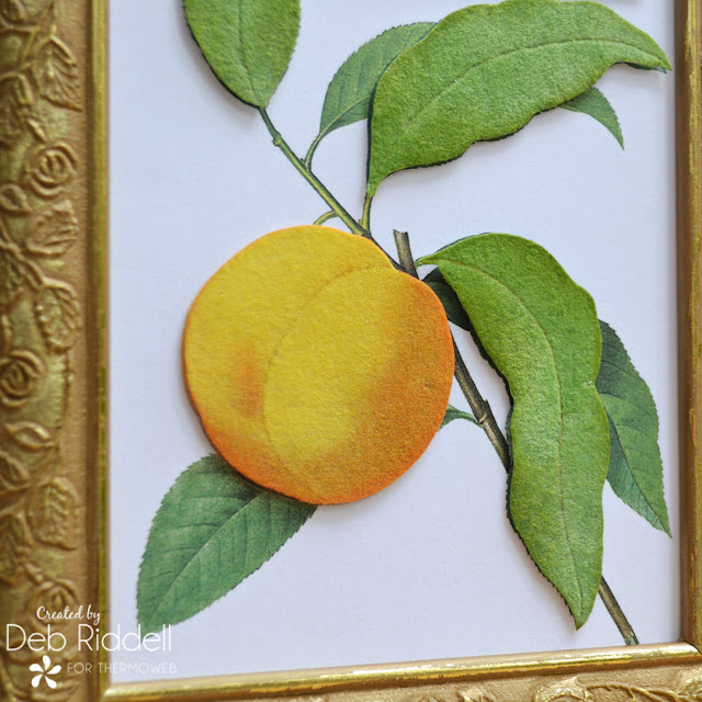 Simply Peachy Framed With Deco Foil Flock Detail