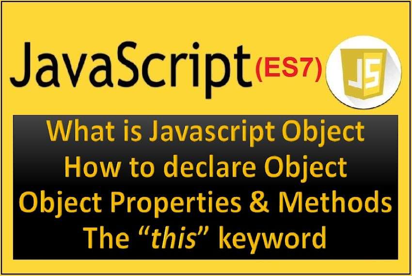 What is Object in Javascript? Object Properties and The this keyword