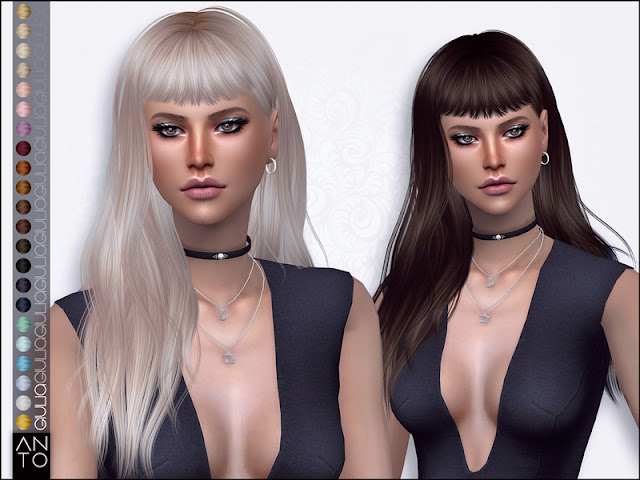 Женские длинные прически для The Sims 4 со ссылками на скачивание