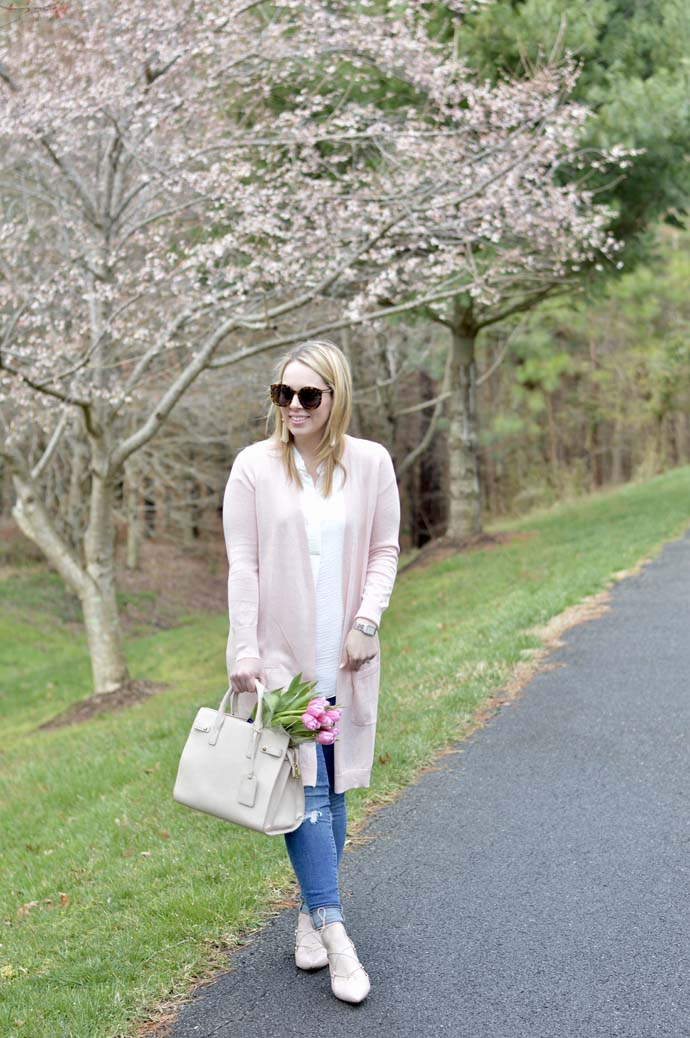 Blush Pink Cardigan A Blonde's Moment
