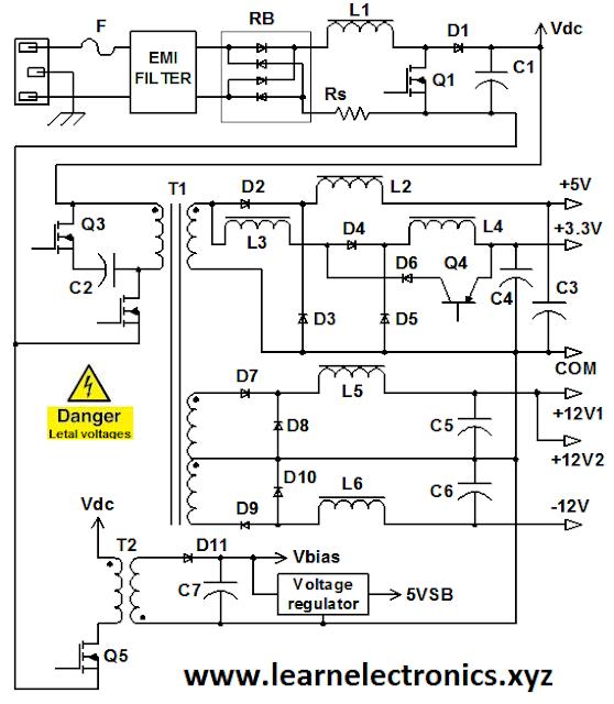 Computer power supply circuit diagram