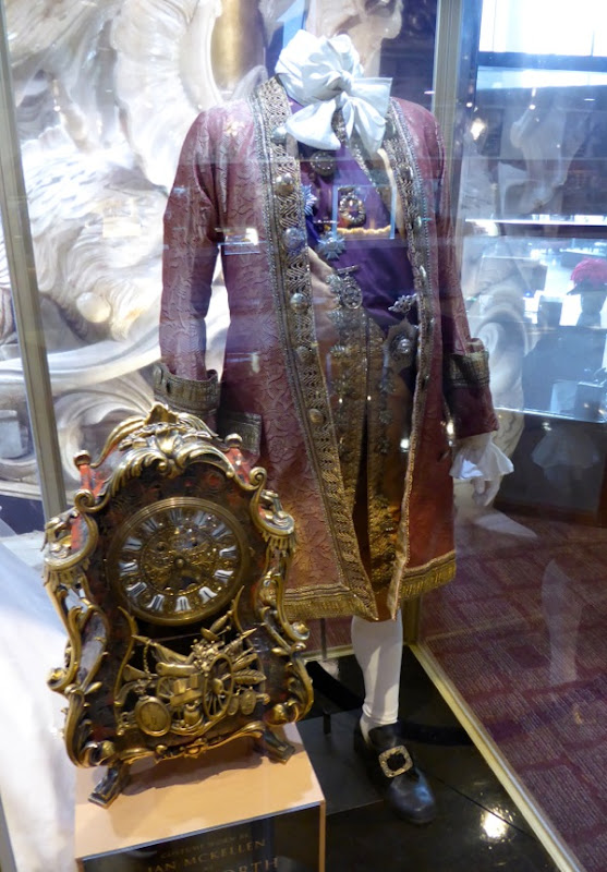 Ian McKellen Beauty and the Beast Cogsworth movie costume