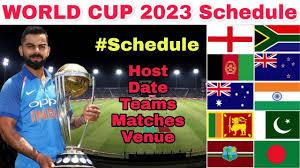ICC CRICKET WORLD CUP 2023 ALL MATCH LIST ,MATCH SCHEDULE, TICKETS - ICC WORLD CUP 2023 INDIA TEAM - ICC WORLD CUP 2023