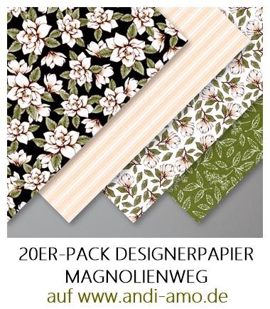 Stampin Up Designerpapier Magnolienweg 20er