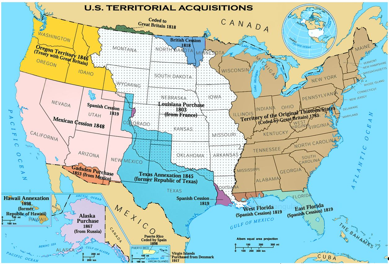AGenealogy August - Us map 1821
