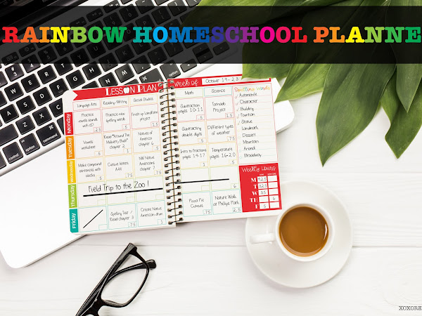 RAINBOW HOMESCHOOL PLANNER [UPDATED]