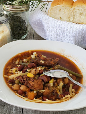 Italian Minestrone recipe card
