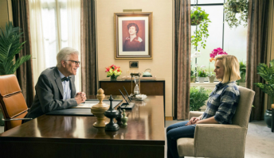 "Review of Ted Danson and Kristen Bell's ""The Good Place."""