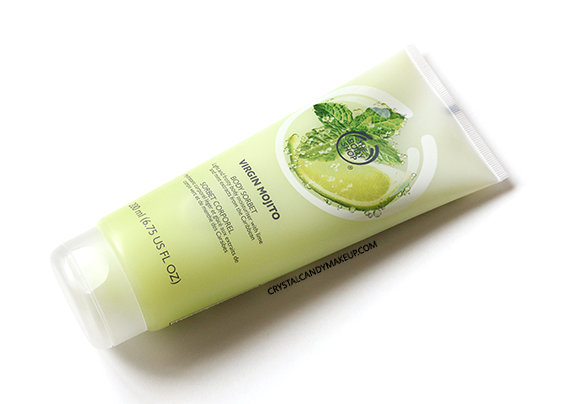 The Body Shop Virgin Mojito Collection Review Body Sorbet