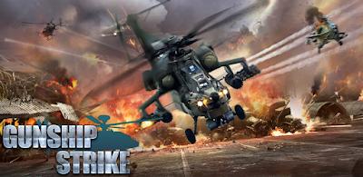 لعبة الطائرات الحربية الرّائعة Gunship Strike 3D مهكرة للأندرويد - تحميل مباشر