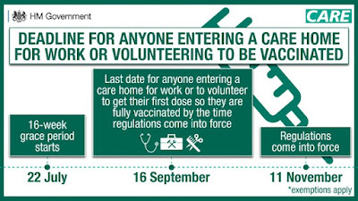 Care home workers MUST be vaccinated. Deadline timeline