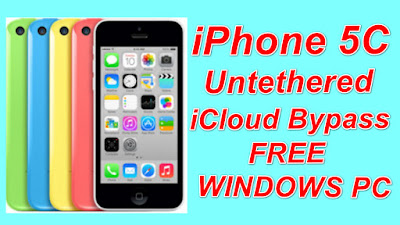 iPhone 5c Untethered iCloud Bypass iOS7 to iOS10 Free Download Tool On Windows Pc