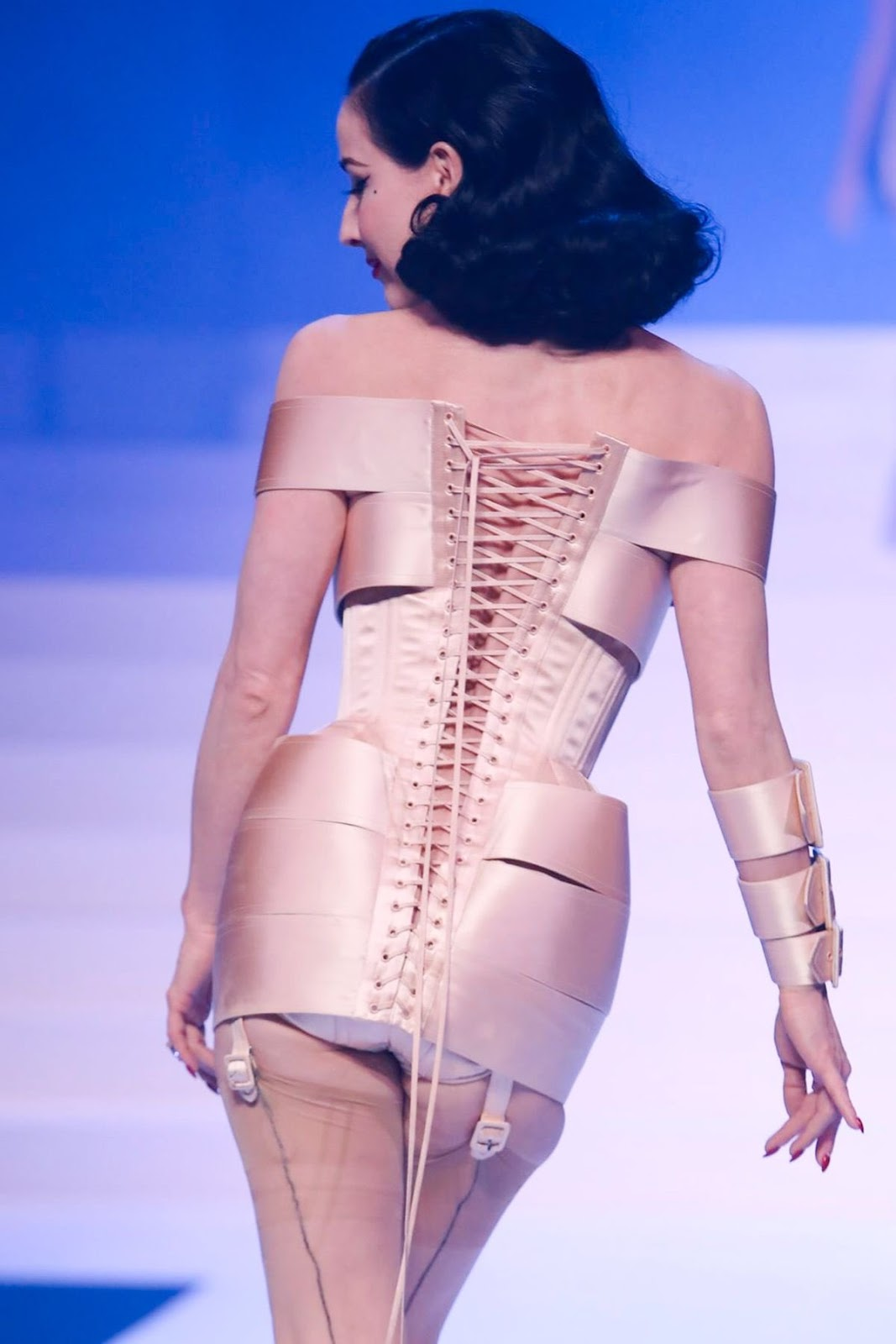 Dita Von Teese for Jean Paul Gaultier's final collection, Haute couture SS20