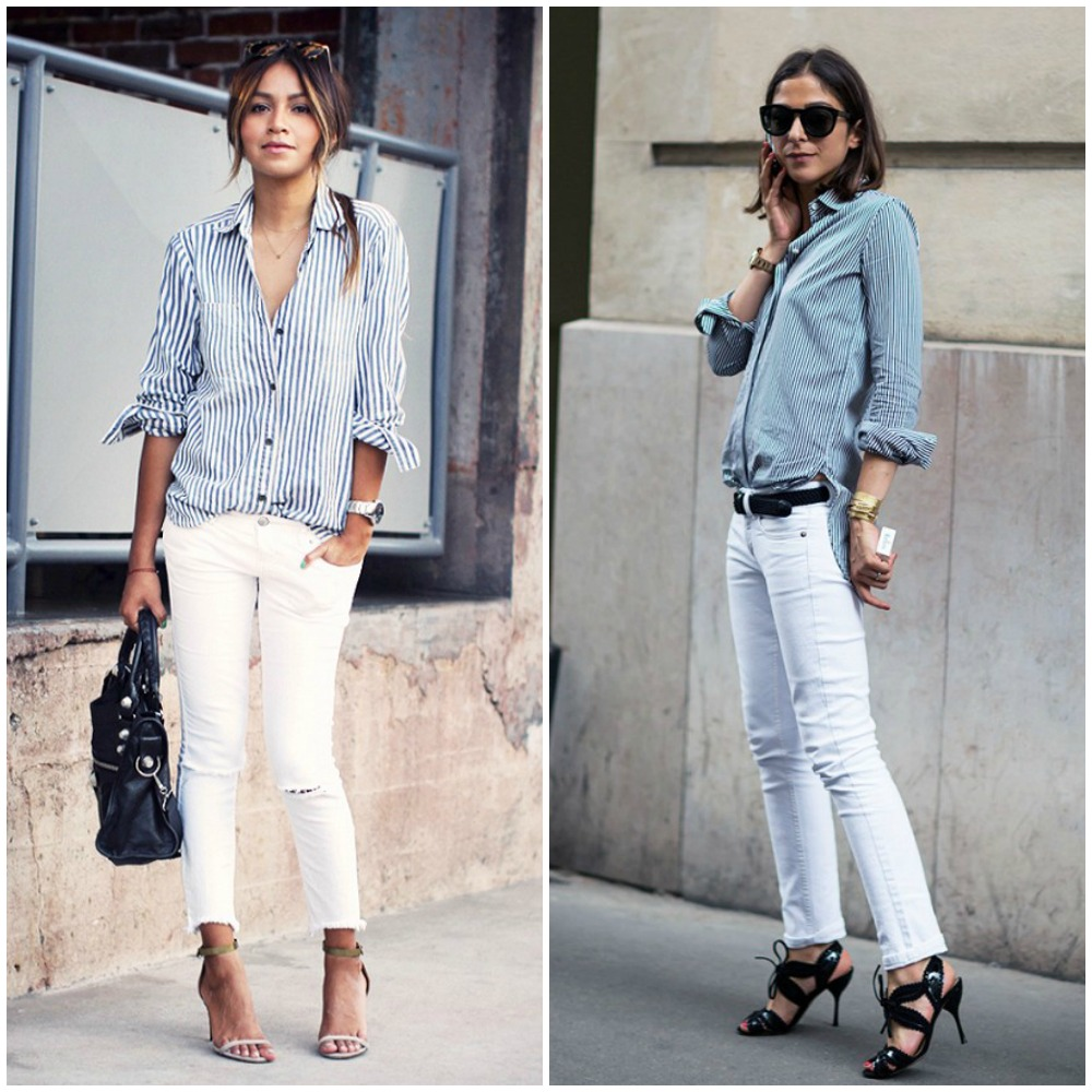 66897d3805 What To Wear With White Skinny Jeans