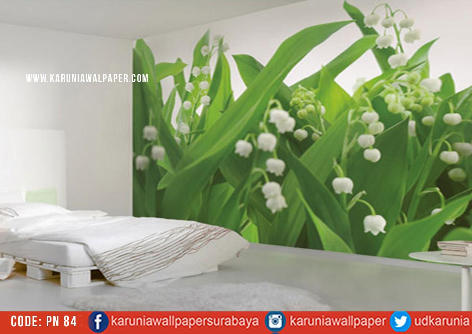 jual wallpaper bunga hijau